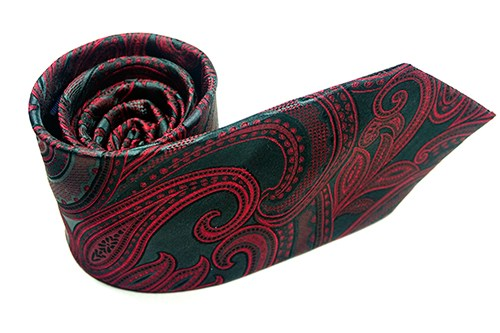 Red Night Paisley Necktie - J.Cooper Classic Neckwear & Accessories