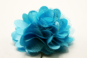 Blue Turquoise Mesh Lapel Flower - J.Cooper Classic Neckwear & Accessories