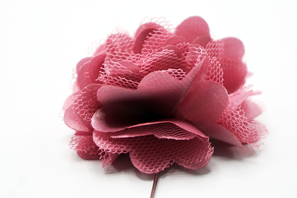 Pink Mesh Lapel Flower - J.Cooper Classic Neckwear & Accessories