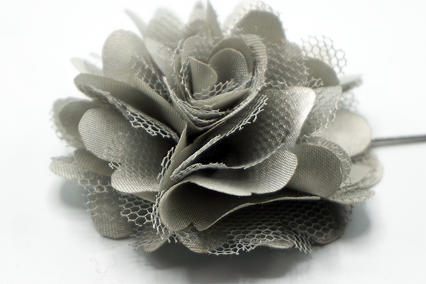 Silver Mesh Lapel Flower - J.Cooper Classic Neckwear & Accessories