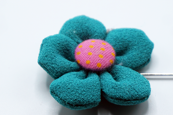 Turquoise Pink Shamrock Lapel Flower - J.Cooper Classic Neckwear & Accessories