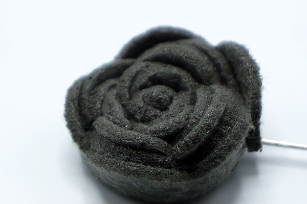 Heather Gray Rosette Lapel Flower - J.Cooper Classic Neckwear & Accessories