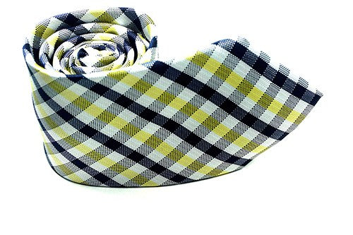 Black Yellow White Checkered Necktie - J.Cooper Classic Neckwear & Accessories