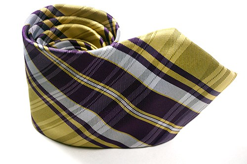 Yellow Purple Plaid Necktie - J.Cooper Classic Neckwear & Accessories