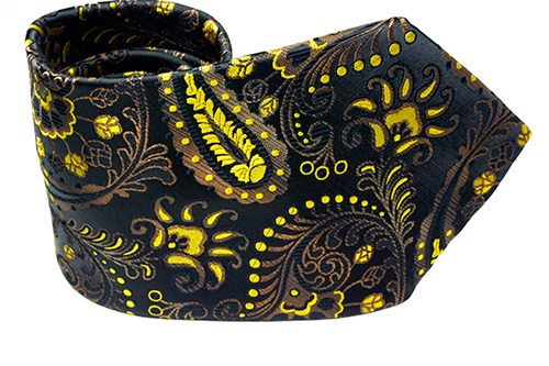 Gold Leaf Paisley Necktie - J.Cooper Classic Neckwear & Accessories