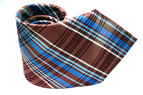 Red Light Blue Plaid Necktie - J.Cooper Classic Neckwear & Accessories