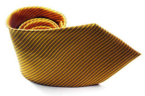 Gold Ribbed Solid Necktie - J.Cooper Classic Neckwear & Accessories