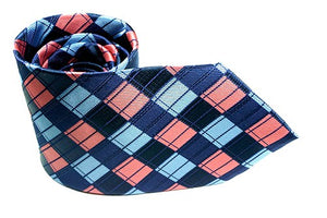 Azure Blue Apricot + Pocket Square - J.Cooper Classic Neckwear & Accessories