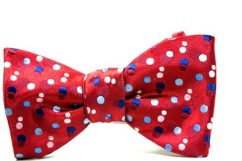 Andromeda Red Polka Dot Bow Tie & Pocket Square - J.Cooper Classic Neckwear & Accessories