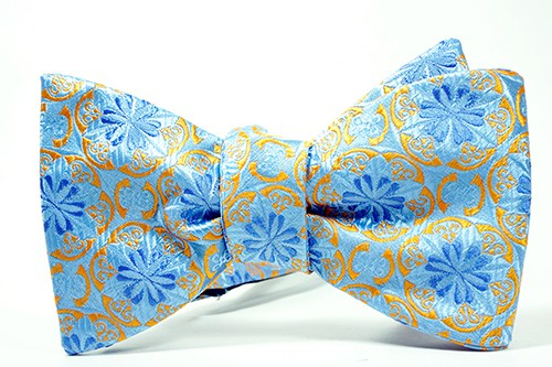 Blue Shamrock Self Tie Bow Tie & Pocket Square - J.Cooper Classic Neckwear & Accessories