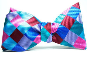 City Limits Plaid Self Tie Bow Tie and Pocket Square - J.Cooper Classic Neckwear & Accessories