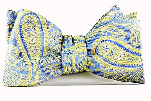 Lemon Chiffon Bow Tie and Pocket Square - J.Cooper Classic Neckwear & Accessories