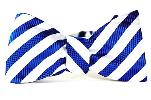 Zephaniah Stripe Bow Tie and Pocket Square