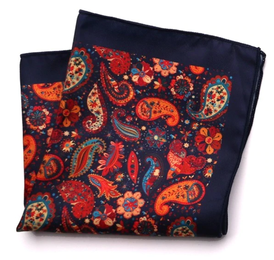 Paisley Park Pocket Square - J.Cooper Classic Neckwear & Accessories