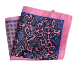 Pink Blue Floral Pocket Square - J.Cooper Classic Neckwear & Accessories