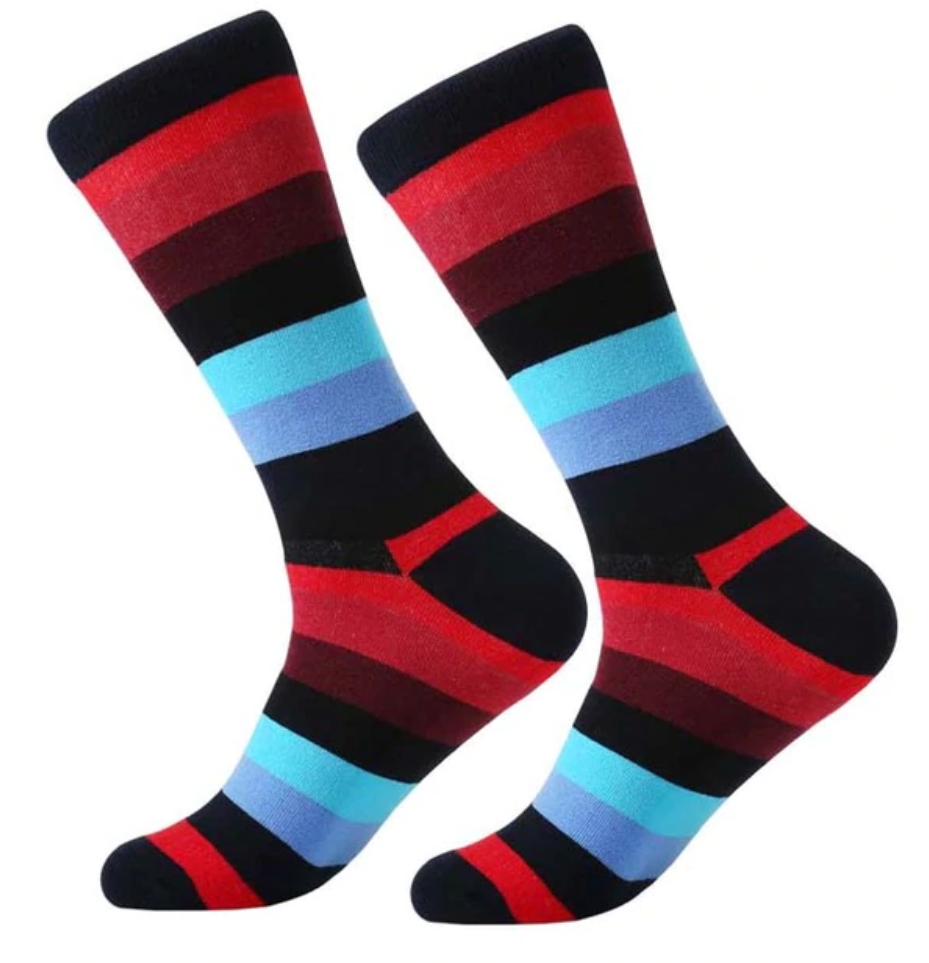 Multi-Colored Cotton Socks - J.Cooper Classic Neckwear & Accessories