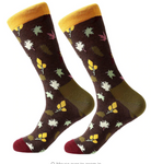 Falling Leaves Cotton Dress Socks - J.Cooper Classic Neckwear & Accessories