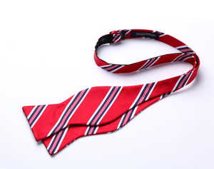 Amazing Red Stripe Bow Tie Pocket Square - J.Cooper Classic Neckwear & Accessories