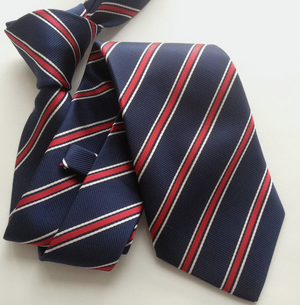 Blue Red Stripe Necktie - J.Cooper Classic Neckwear & Accessories