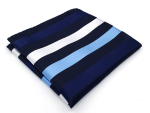 Blue Pinstripe Pocket Square - J.Cooper Classic Neckwear & Accessories