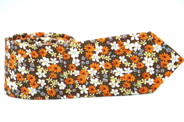 Torched Lilly Floral Necktie - J.Cooper Classic Neckwear & Accessories