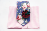 Floral Pink Burgundy Combination - J.Cooper Classic Neckwear & Accessories
