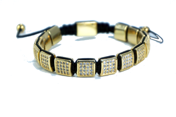 CZ DIAMONDS FLAT BEADS BRACELET - J.Cooper Classic Neckwear & Accessories