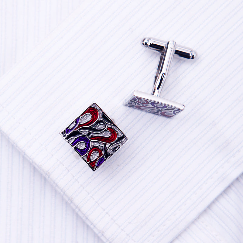 Purple Red Swirl Cufflinks - J.Cooper Classic Neckwear & Accessories