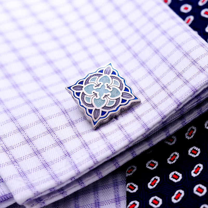 Sapphire Button Cufflinks - J.Cooper Classic Neckwear & Accessories