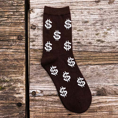 Dollar Sign Cotton Dress Socks - J.Cooper Classic Neckwear & Accessories