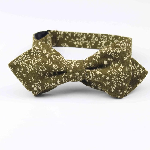 Mens Handmade Cotton Bowties Plain Self Tie Butterfly - J.Cooper Classic Neckwear & Accessories