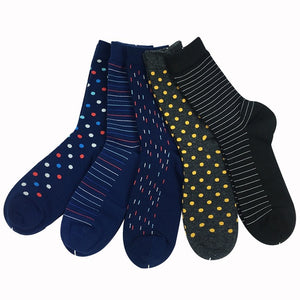 Mens Luxury Colorful Business Socks (5 pairs/lot )