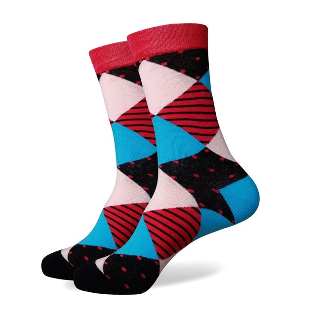 Mens Colorful Cotton Socks