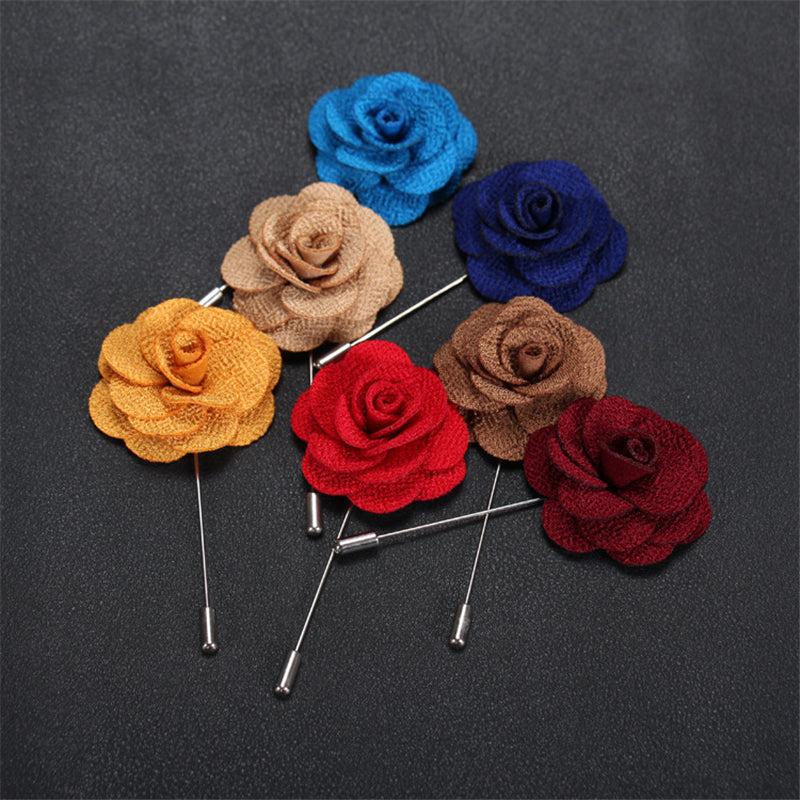Assorted Linen Lapel Flowers - J.Cooper Classic Neckwear & Accessories