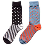 Cotton Polka Dot Dress Socks