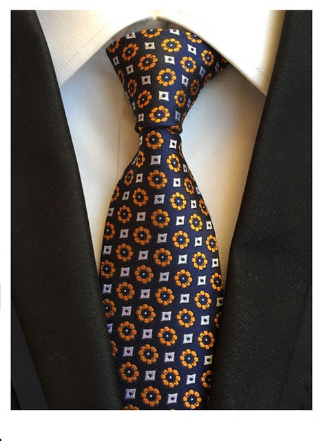 Orange Floral Necktie - J.Cooper Classic Neckwear & Accessories