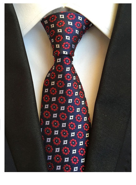 Red Floral Dot Necktie - J.Cooper Classic Neckwear & Accessories