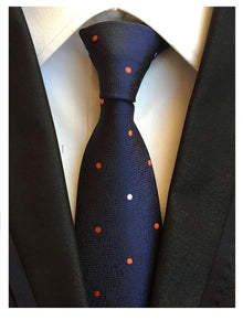 Blue Orange Polka Dot Necktie - J.Cooper Classic Neckwear & Accessories