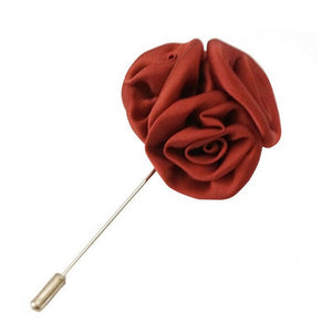 Red Silk Rose Cluster Men Lapel Pins For Suits - J.Cooper Classic Neckwear & Accessories