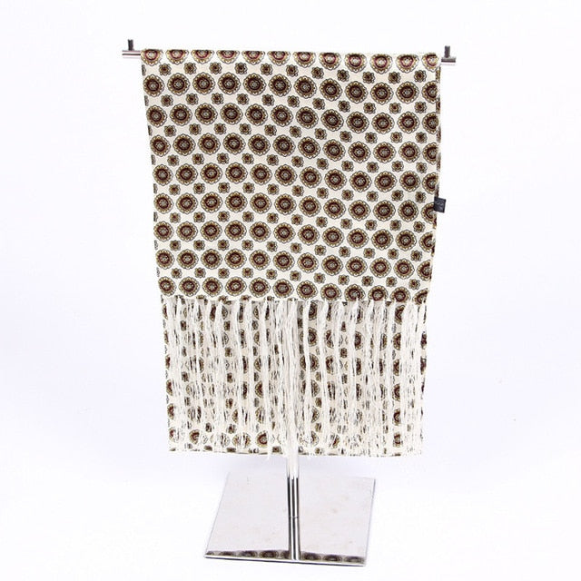 Couverture Men Silk Luxury Scarf-White - J.Cooper Classic Neckwear & Accessories