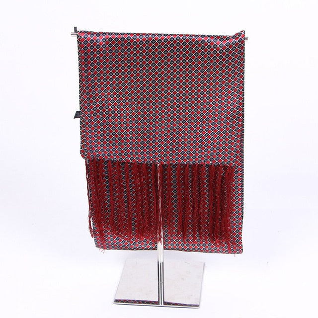 Couverture Men Silk Luxury Scarf-Red - J.Cooper Classic Neckwear & Accessories