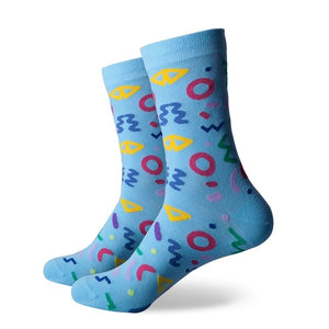 Men Colorful Combed Cotton Socks Funny Socks novelty socks men US 7.5-12 - J.Cooper Classic Neckwear & Accessories