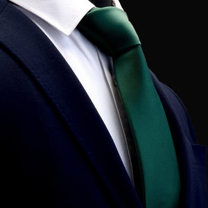 Classic Green Mens Tie Silk 8cm Formal Necktie For Business - J.Cooper Classic Neckwear & Accessories
