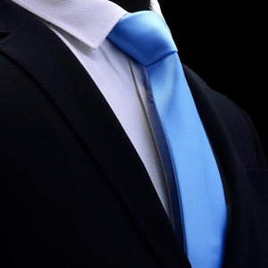 Classic Light Blue Mens Tie Silk 8cm Formal Necktie For Business - J.Cooper Classic Neckwear & Accessories