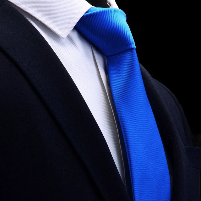 Classic Royal Blue Mens Tie Silk 8cm Formal Necktie For Business - J.Cooper Classic Neckwear & Accessories