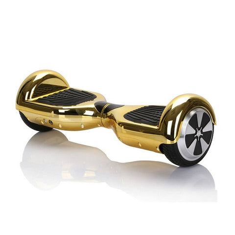6.5 inch 2 wheels scooter chrome shell hoverboard with Bluetooth speakers