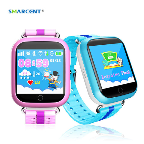 SMARCENT GPS Q750 Q100 Kids Smart Watch with Wifi 1.54 inch Touch Sreen SOS Call Location Device Tracker for Kid Safe pk Q50 Q90