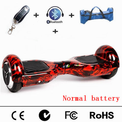 Cool 6.5 inch Electric Self Balancing Scooter hoverboard with Remote Controller