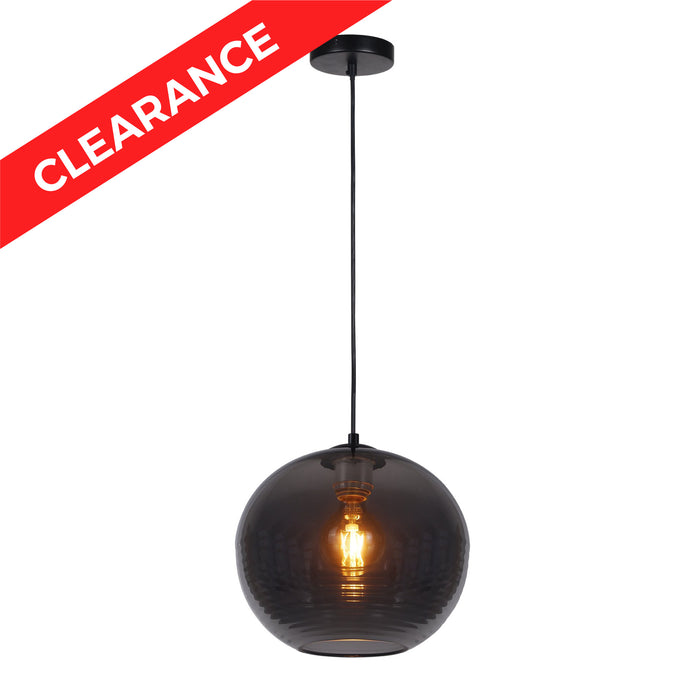 10.25 inch Pendant Lamp with nickel plated glass shade