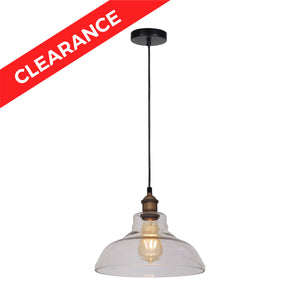 SOLD OUT 11 inch Pendant Lamp Antique Brass